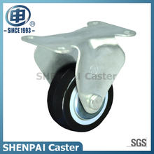 "2"" Black PU Fixed Caster Wheel"