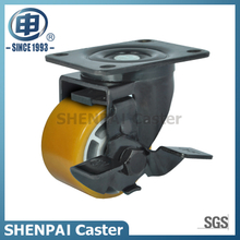 4 Inch Aluminium Core PU Swivel Caster with Brake