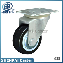 "2""Light Duty Black PU Swivel Caster Wheel"