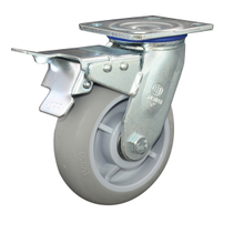 8' TPR Swivel with brake Caster Wheel for Heavy Duty