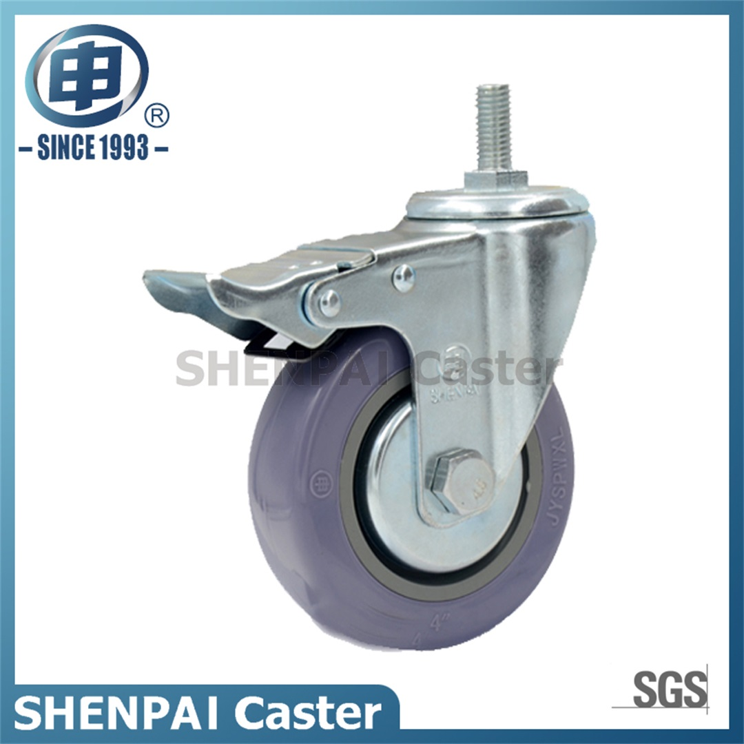 "4"" Grey Polythene Swivel Caster Wheel"