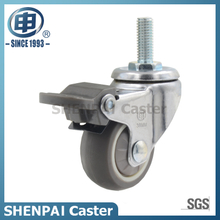 "1.25"" TPR Threaded Stem Swivel Locking Caster Wheel"