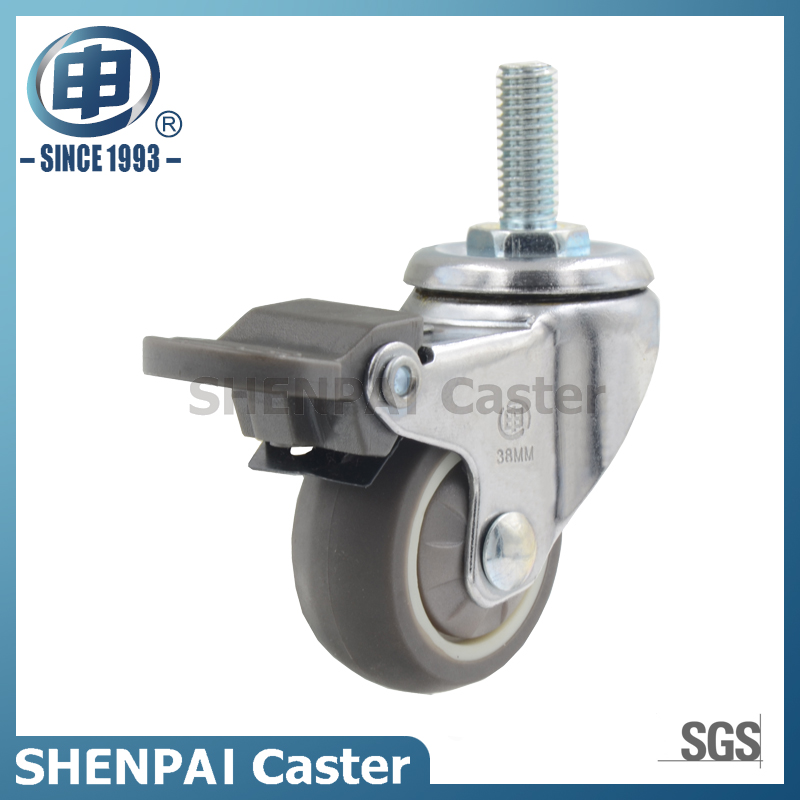 "1""Micro Duty TPR Fixed Caster Wheel"