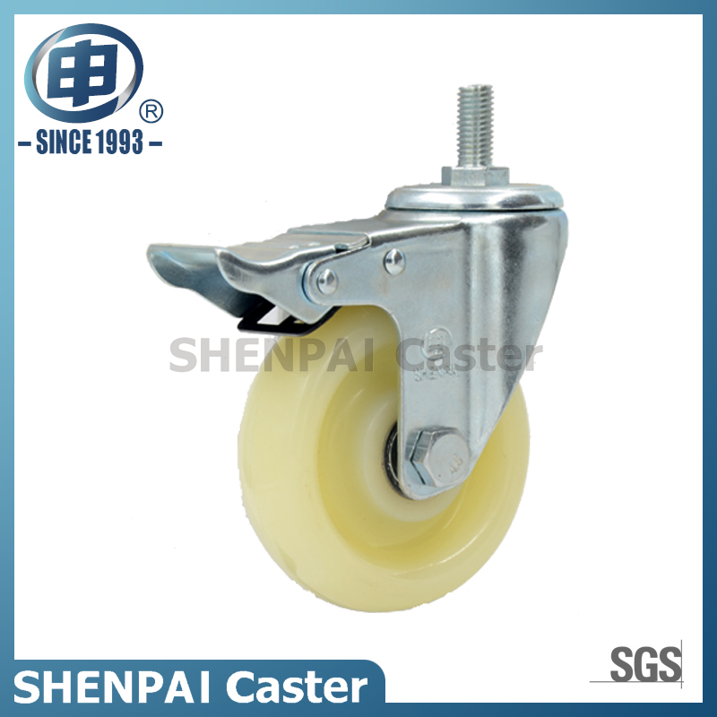 "3"" White PP Swivel Caster Wheel"