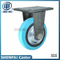 "6""Iron Core Blue Nylon Fixed Caster Wheel"
