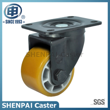 "4""Aluminium Core Yellow PU Swivel Caster Wheel"