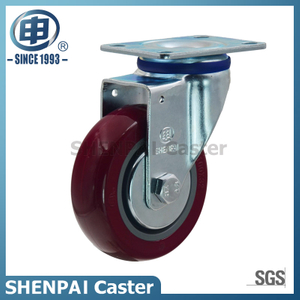 "5"" Polyurethane Swivel Caster Wheel for Medium Duty"