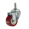 "1.5"" Polyurethane Rigid Caster Wheel with Ball Bearing"