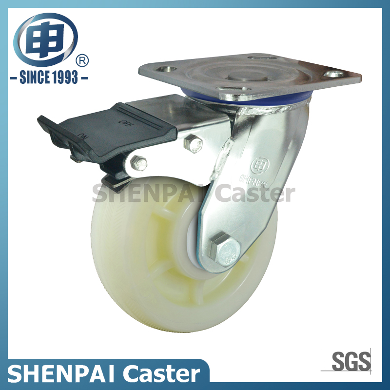 "5""Stainless Steel Bracket Swivel Locking PP Caster Wheel"