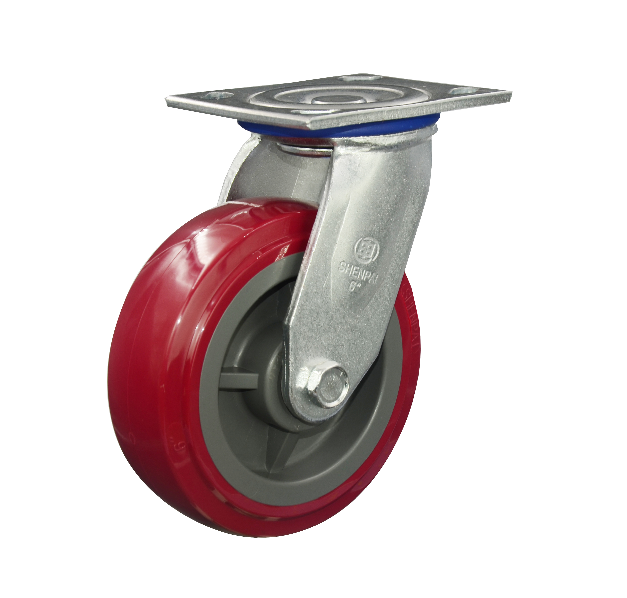 "5"" Red PU Swivel Caster Wheel"